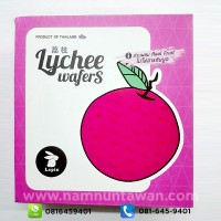 Lychee Wafers by Lapin (80 gram)